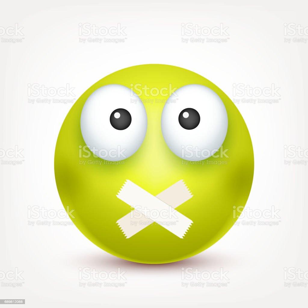 Smiley Colere Tristeemoticone Visage Vert Avec Des Emotions Expression Faciale Emoji 3d Realiste Caractere Drole De Dessin Anime Humeur Icone Web Illustration De Vecteur Vecteurs Libres De Droits Et Plus D Images Vectorielles