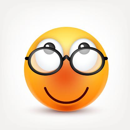 Smiley Emoticon Face Jaune Avec Les Émotions Expression Du ...