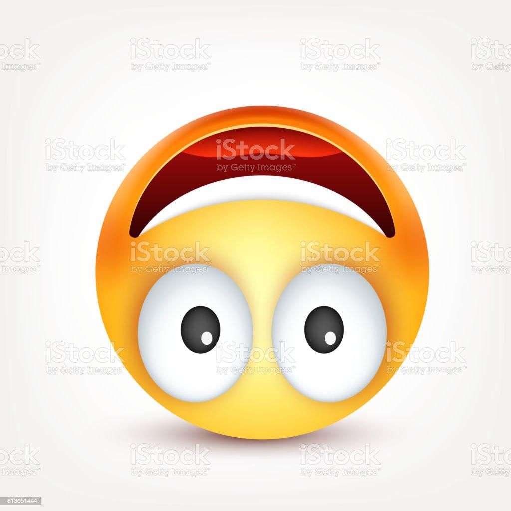 Ilustración De Smiley Emoticon Cara Amarilla Con Las Emociones