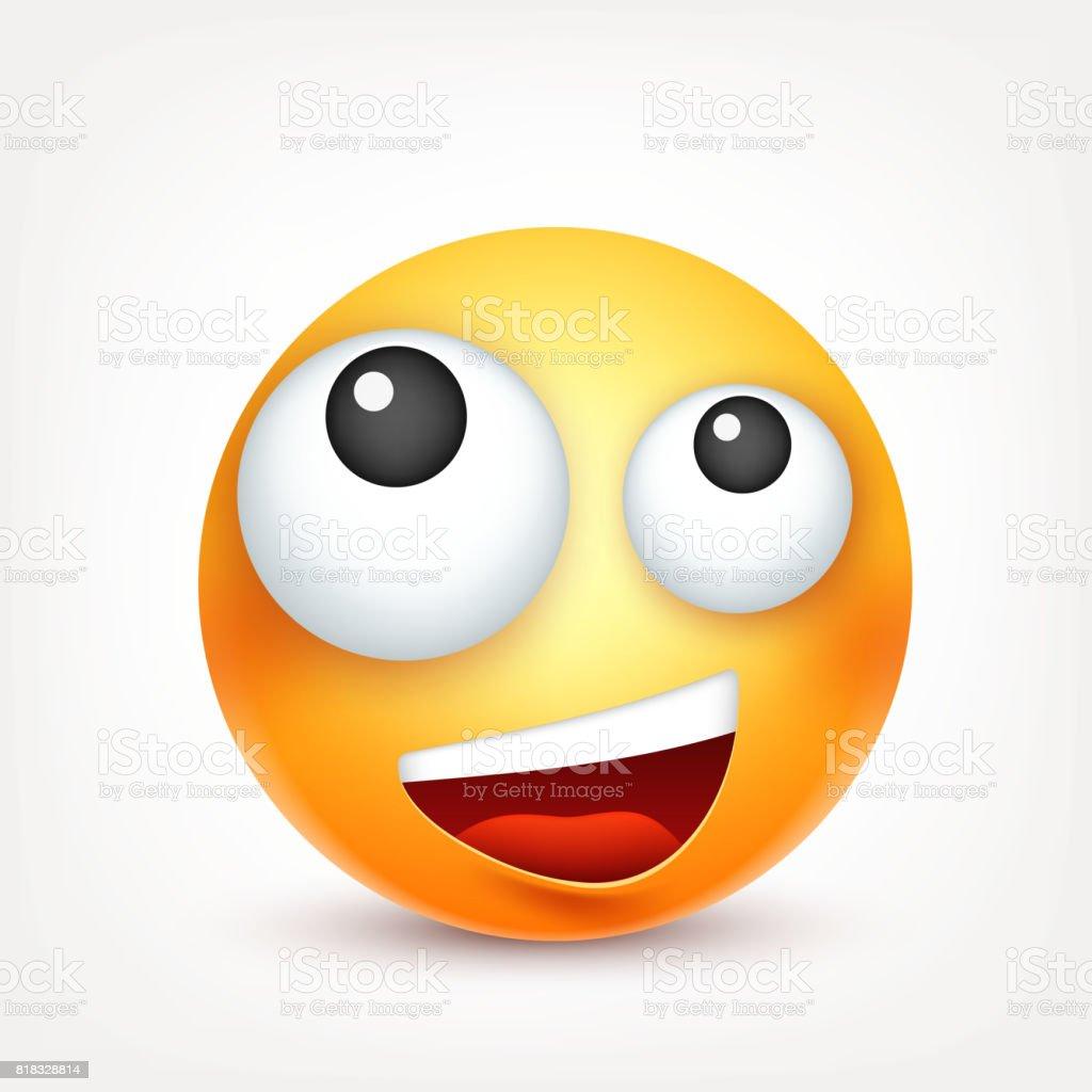 lustige Smiley-Gesichter