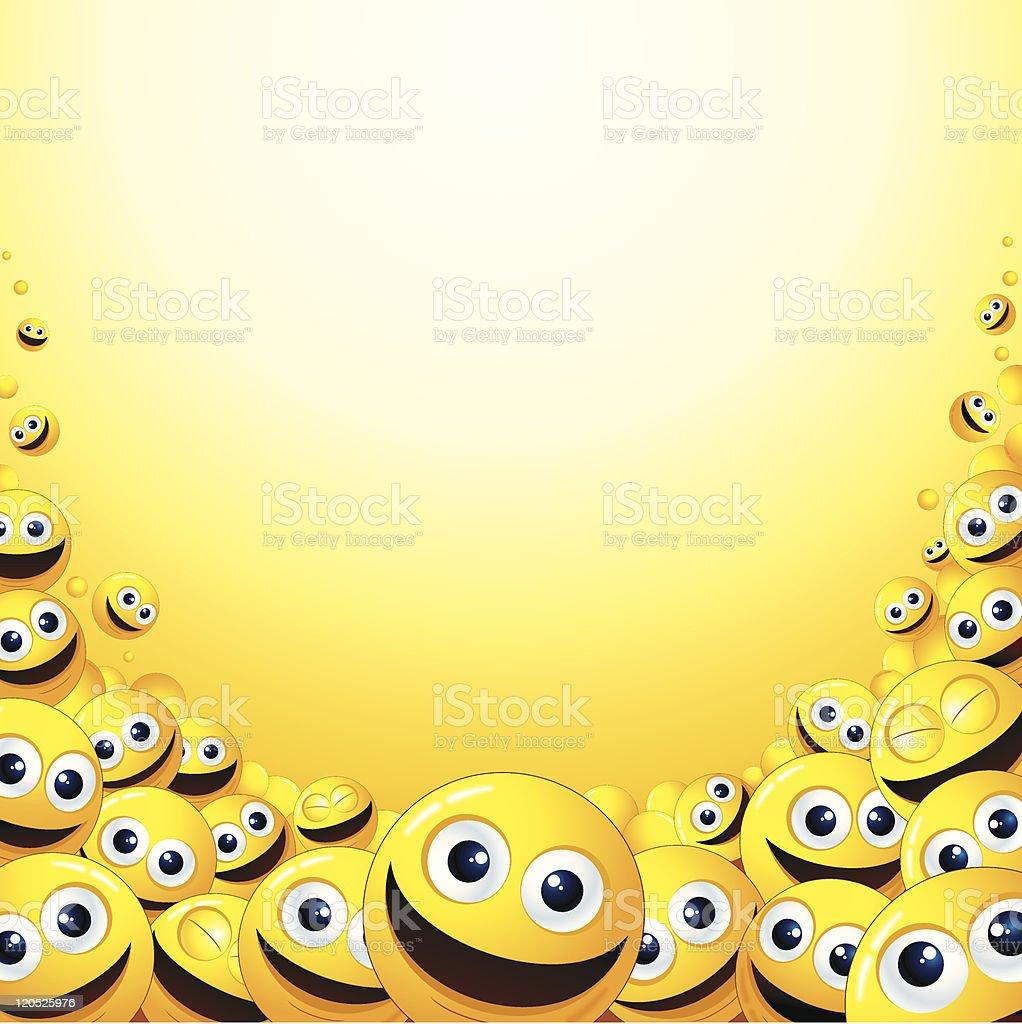 Smileys Background vector art illustration