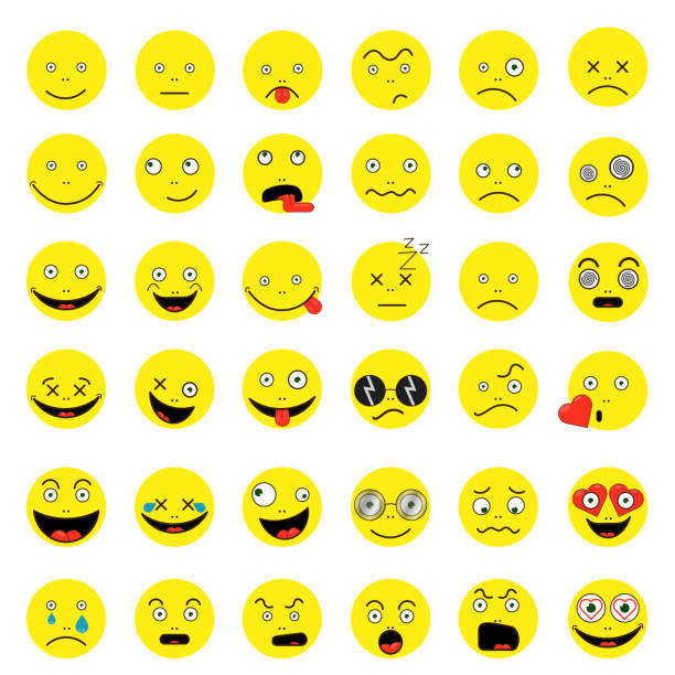 smileys funny funny yep vector 10 vector set - jealous emoji stock illustrations, clip art, cartoons, & icons