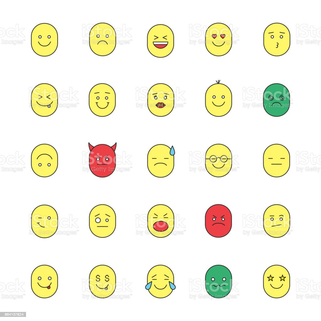 Smileys icons royalty-free smileys icons stock vector art & more images of color image