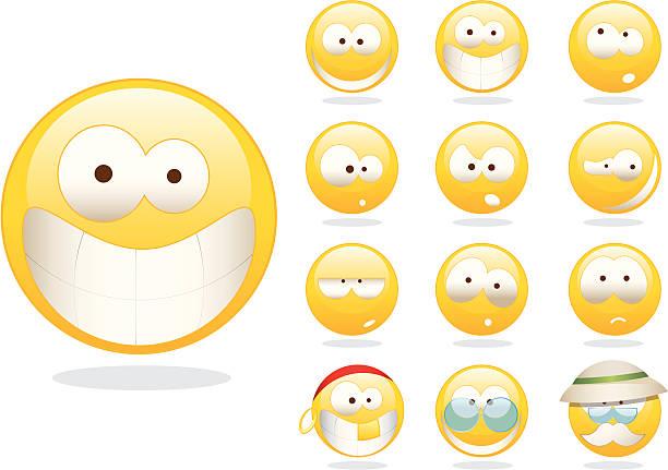 smileys - old man sunglasses stock illustrations, clip art, cartoons, & icons
