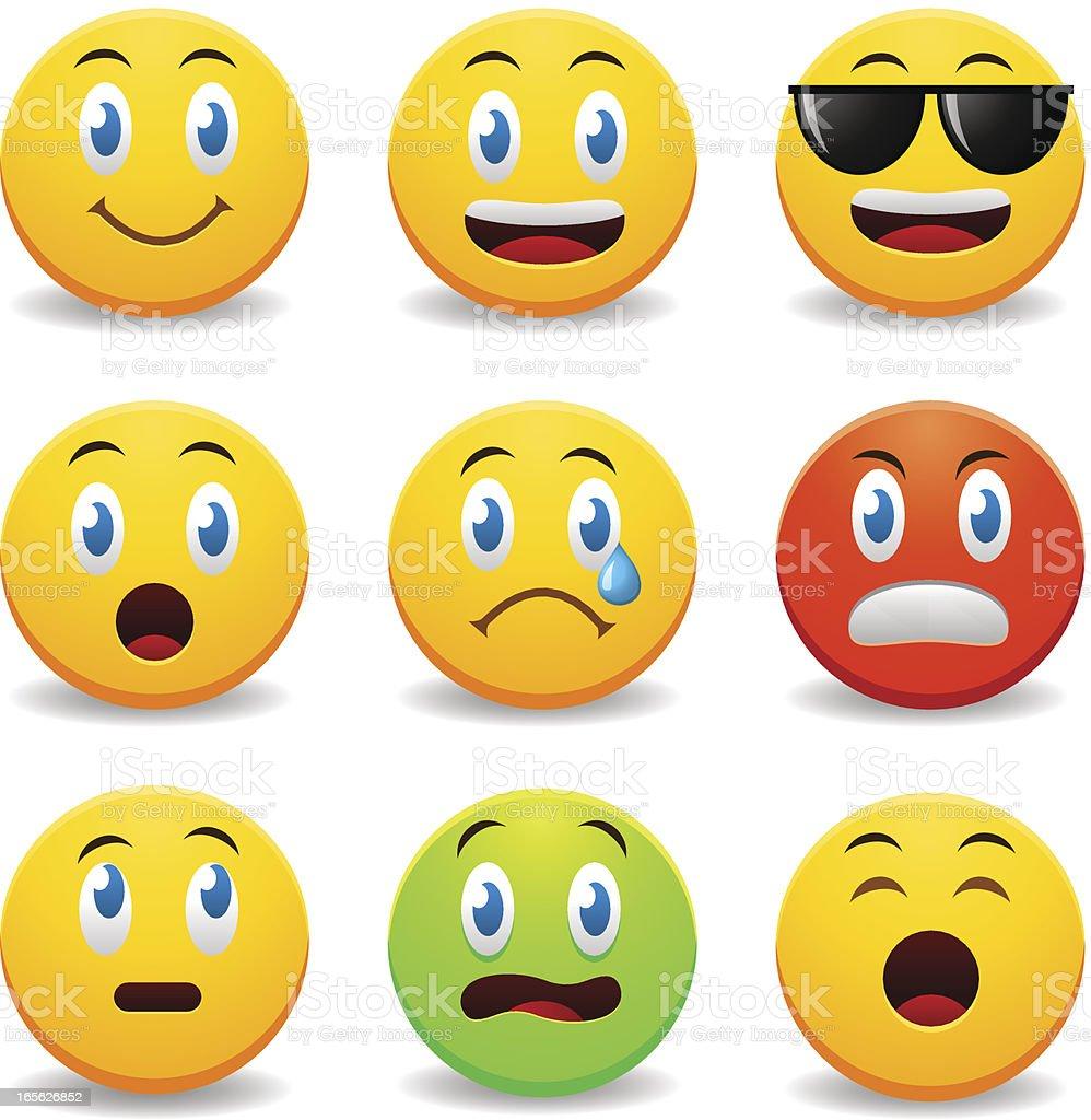 Smileys - ilustración de arte vectorial