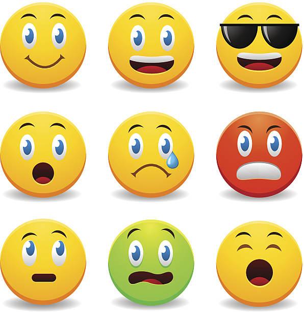 ilustraciones, imágenes clip art, dibujos animados e iconos de stock de smileys - lágrimas de emoji alegre