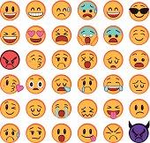 A set of 36 smileys.