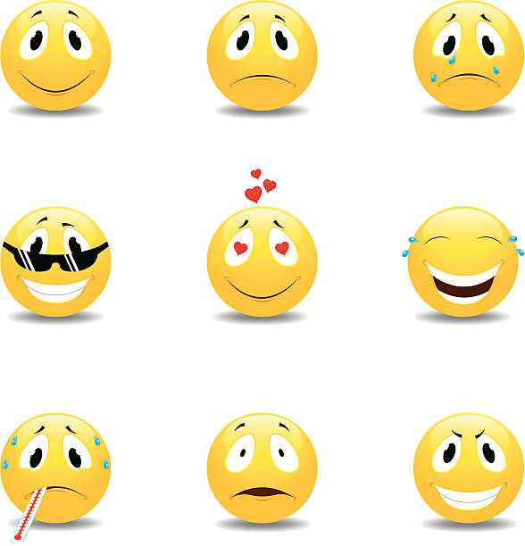 smilie - jealous emoji stock illustrations, clip art, cartoons, & icons