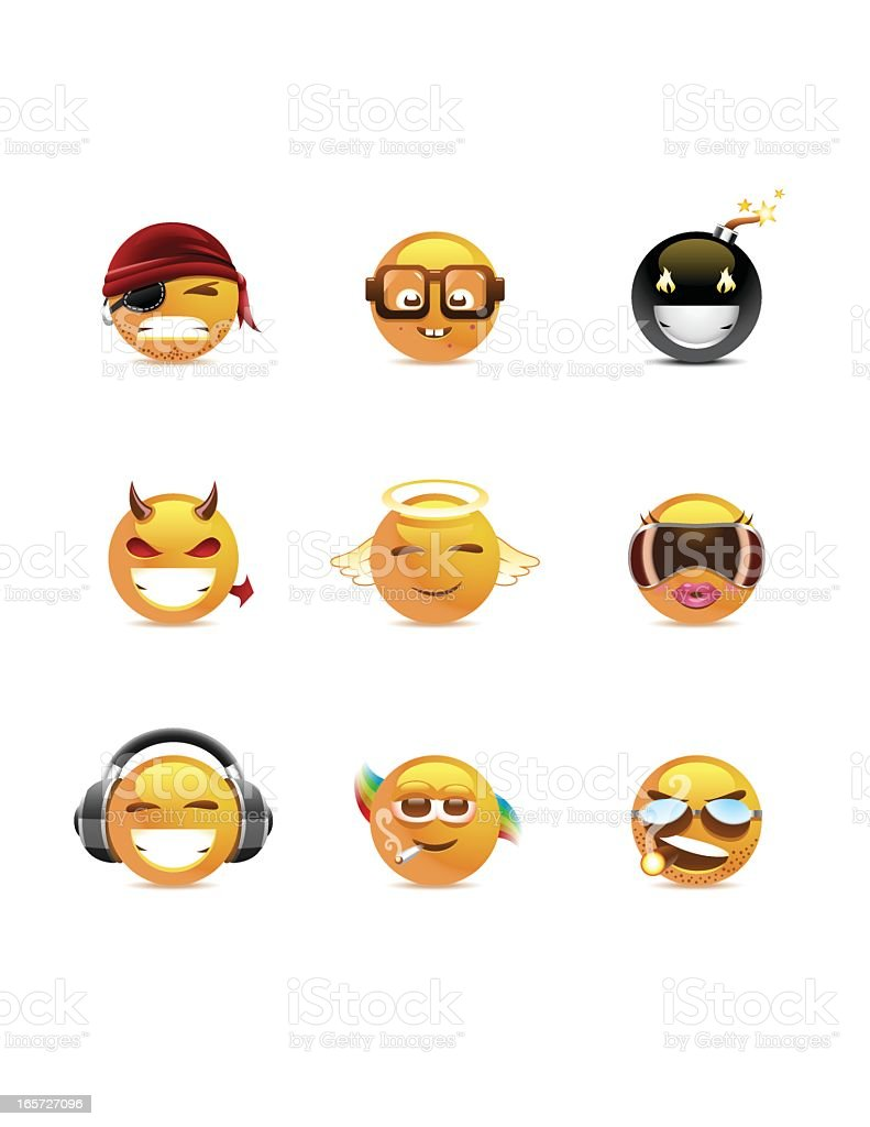 Smilies   Characters royalty-free stock vector art