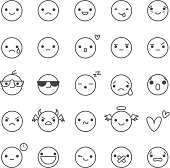 smilies vector icons with different emotions