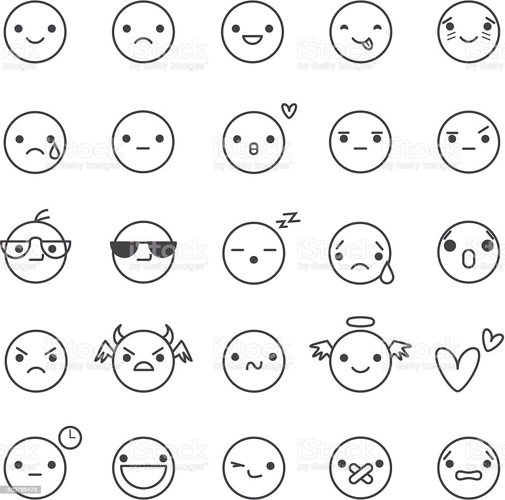 smilies vector icons vector art illustration