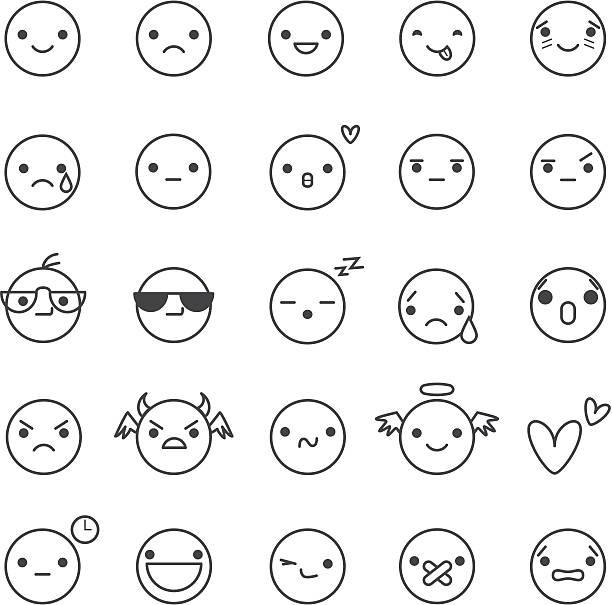 smilies ベクトルのアイコン - 興奮の絵文字点のイラスト素材/クリップアート素材/マンガ素材/アイコン素材