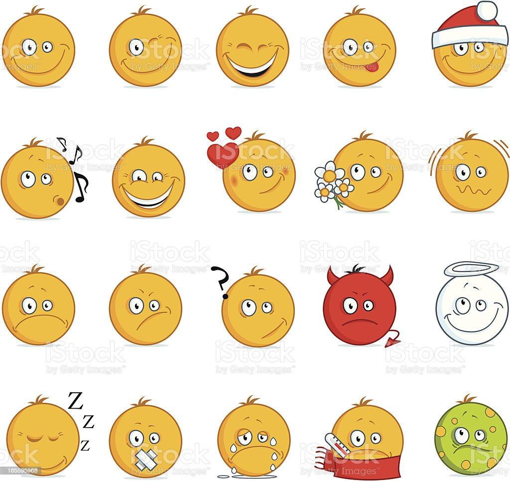Smilies royalty-free smilies stock vector art & more images of angel