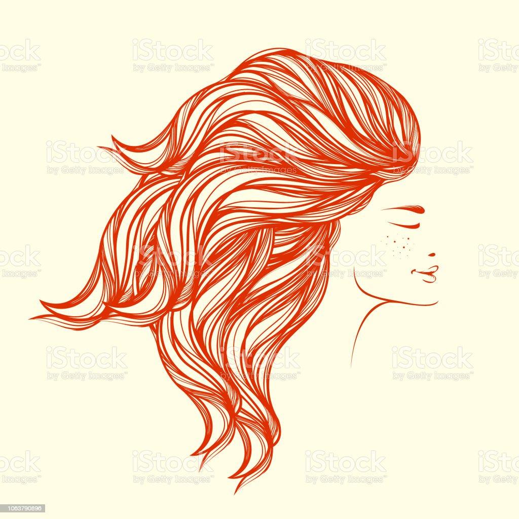 Lachende Mooie Jonge Vrouw Met Natuurlijke Makeup Rood Haar En