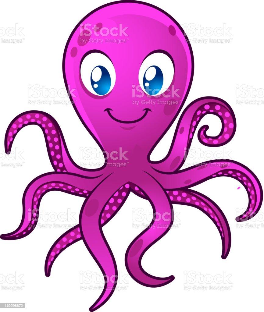 Sonriendo ojos azules pulpo moving sus ocho tentacles ilustración de sonriendo ojos azules pulpo moving sus ocho tentacles y más banco de imágenes de agua libre de derechos