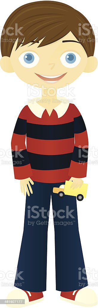 Smiling Boy royalty-free stock vector art