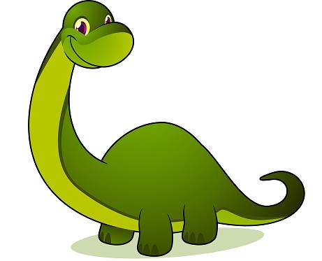 Smiling brontosaurus