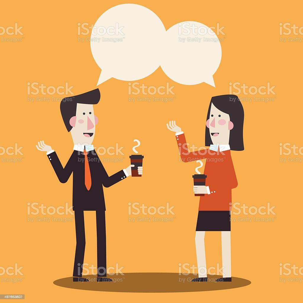 royalty free two people talking clip art vector images rh istockphoto com Group of People Talking Group of People Talking