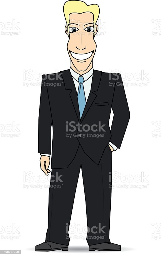 Smiling businessman royalty-free stock vector art