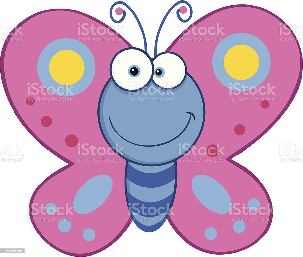 Smiling Butterfly royalty-free stock vector art