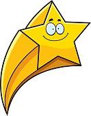 Smiling Cartoon Shooting Star