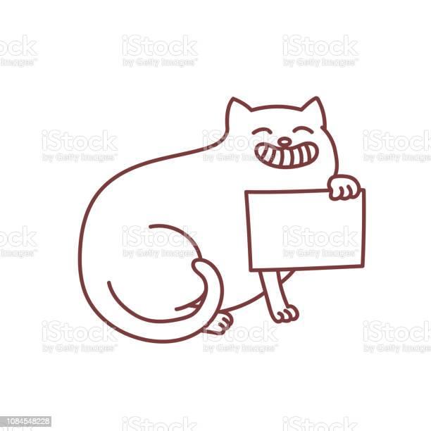 Smiling cat holds copy space blank placard in paw vector id1084548228?b=1&k=6&m=1084548228&s=612x612&h=ev9rqbpmeb akmlu4 fwui7i4fuz5nvxtfulwkridpk=