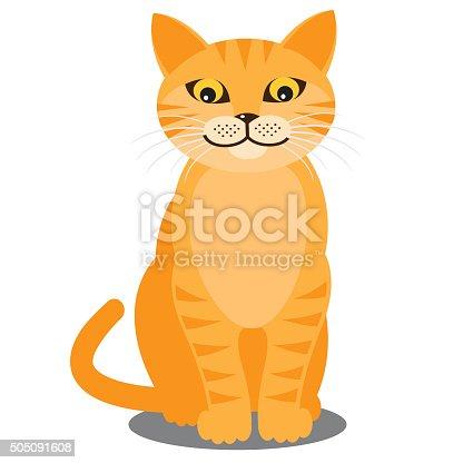 istock Smiling cat. Vector 505091608