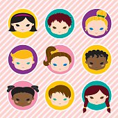 Smiling Children Icons