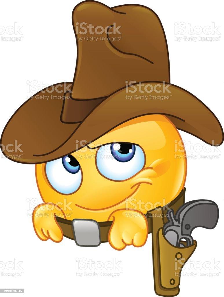 Emoticon sonriente de vaquero ilustración de emoticon sonriente de vaquero  y más banco de imágenes de 479640d8264e