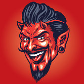 Smiling devil Head