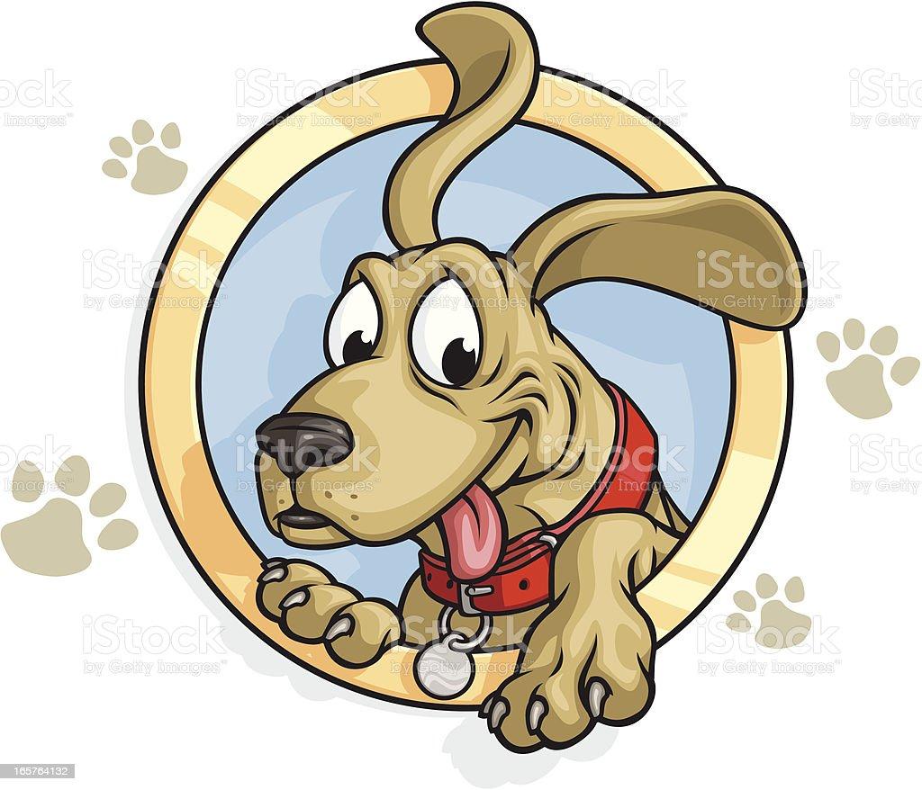 Smiling Dog Mascot vector art illustration