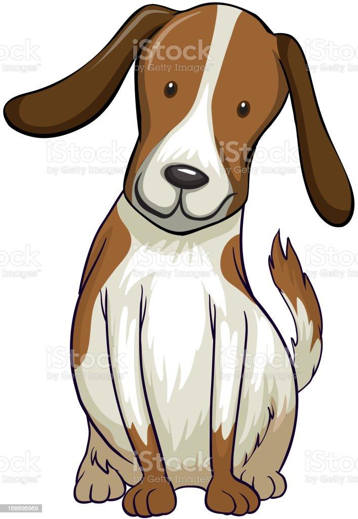 Smiling dog royalty-free stock vector art