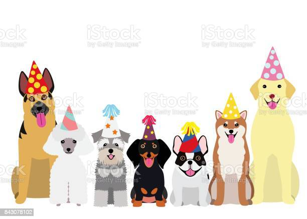 Smiling dogs with party hat vector id843078102?b=1&k=6&m=843078102&s=612x612&h=e63l6xstzwqj hxalmayoztxlsrgejvz3dmgbsvkfzc=
