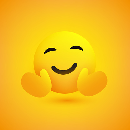Smiling Emoji with Open Arms
