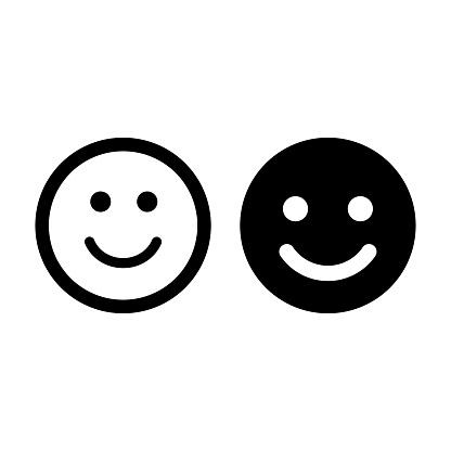 Smiling Emoticon Face Icon Symbol Vector