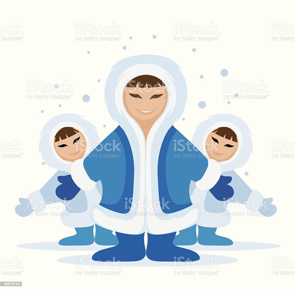 Smiling eskimo people group royalty-free smiling eskimo people group stock vector art & more images of adult