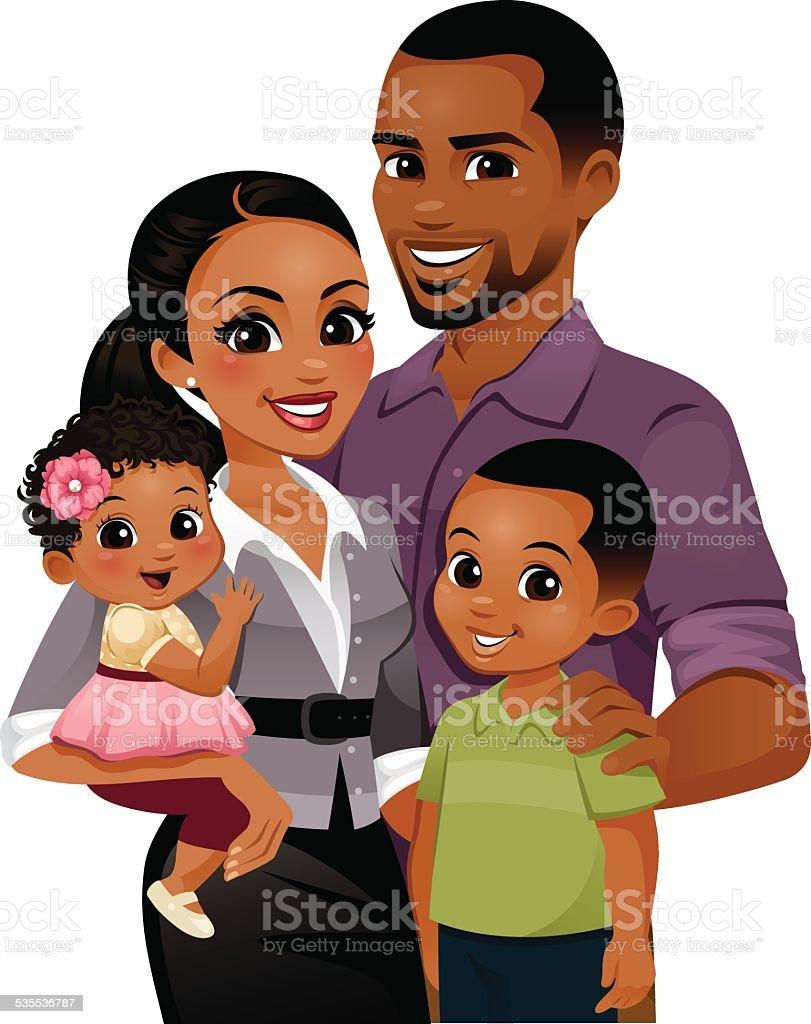 royalty free black family clip art vector images illustrations rh istockphoto com family clipart black and white free black family reunion clipart