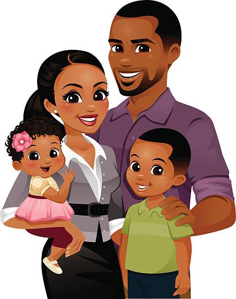 Best Black Family Illustrations, Royalty-Free Vector ...