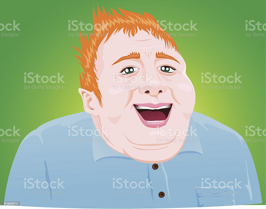 Smiling Fat Blond Guy royalty-free smiling fat blond guy stock vector art & more images of adult