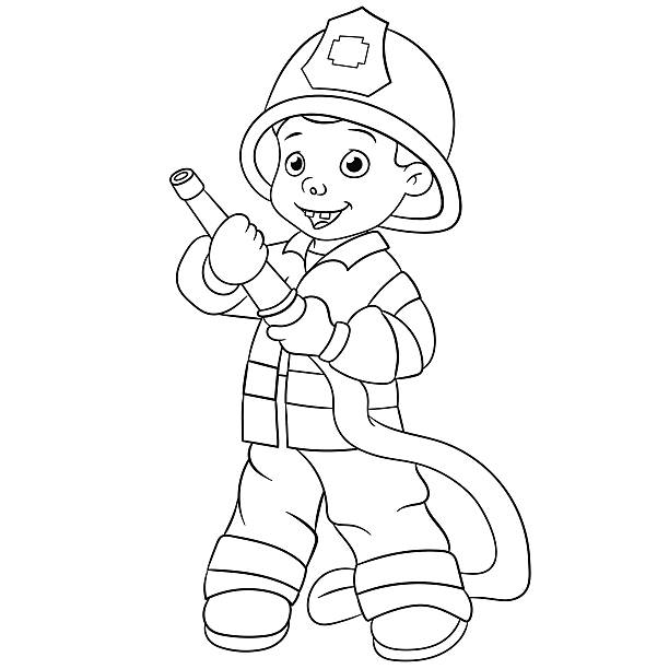 Royalty Free Firefighter Kid To The Rescue! Clip Art ...