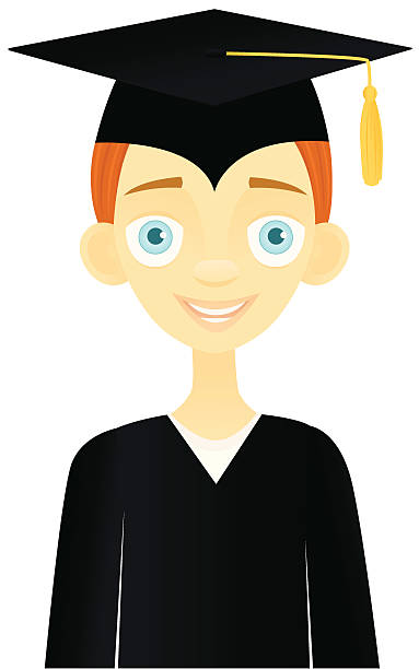 smiling graduate - redhead stock illustrations, clip art, cartoons, & icons