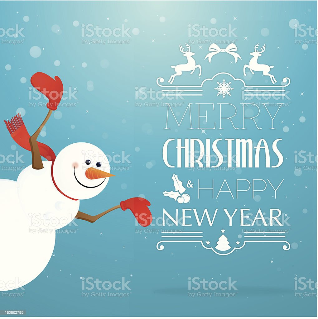 Smiling happy snowman wishing merry Christmas royalty-free smiling happy snowman wishing merry christmas stock vector art & more images of arms outstretched