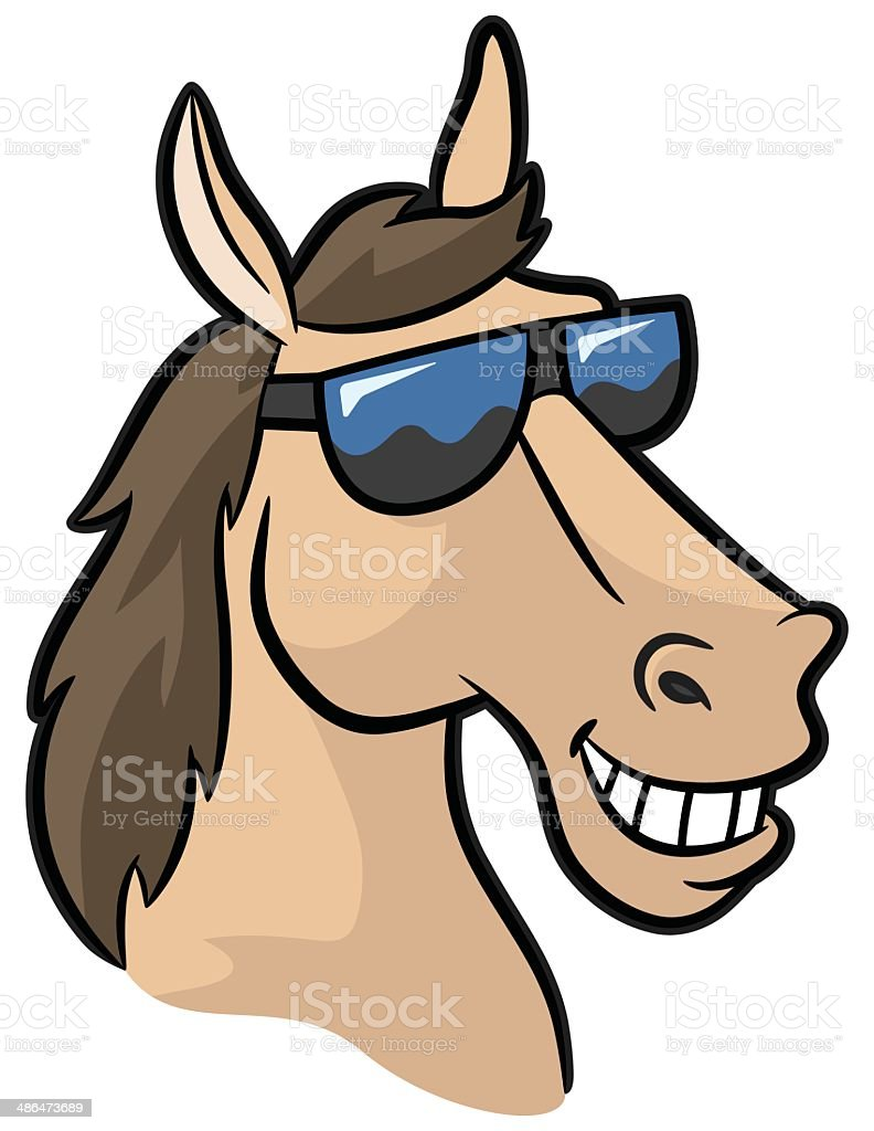 Smiling Horse Mascot With Shades vector art illustration