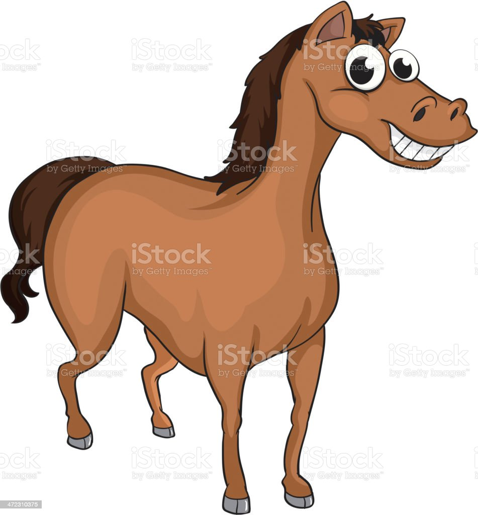 Smiling horse royalty-free smiling horse stock vector art & more images of animal
