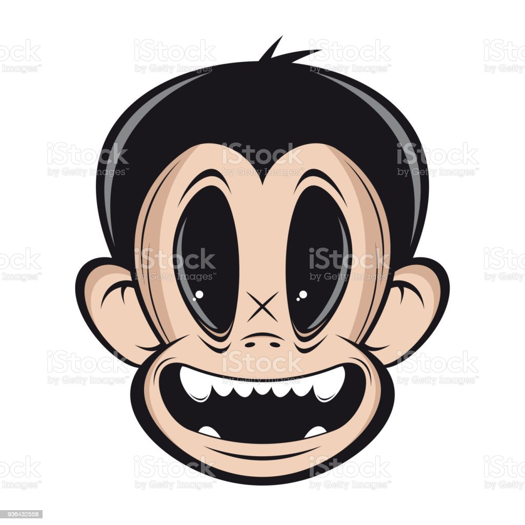 smiling monkey face clipart stock vector art more images of animal rh istockphoto com monkey face clipart cute monkey face clipart