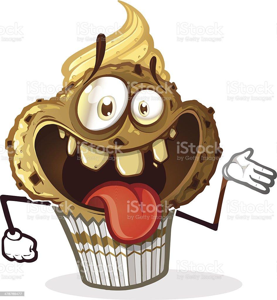 Smiling Muffin vector art illustration