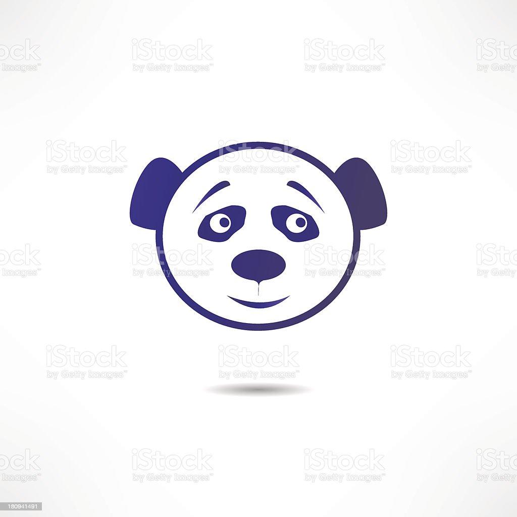 Smiling panda. royalty-free stock vector art