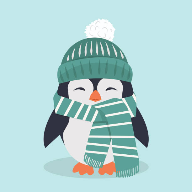 smiling penguin characters with hat smiling penguin characters with hat penguin stock illustrations