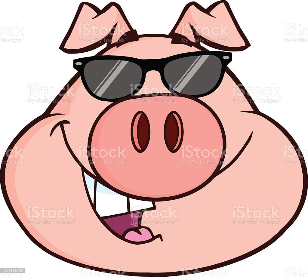 royalty free pig sunglasses clip art vector images illustrations rh istockphoto com clip art pig face clipart pigs at the trough