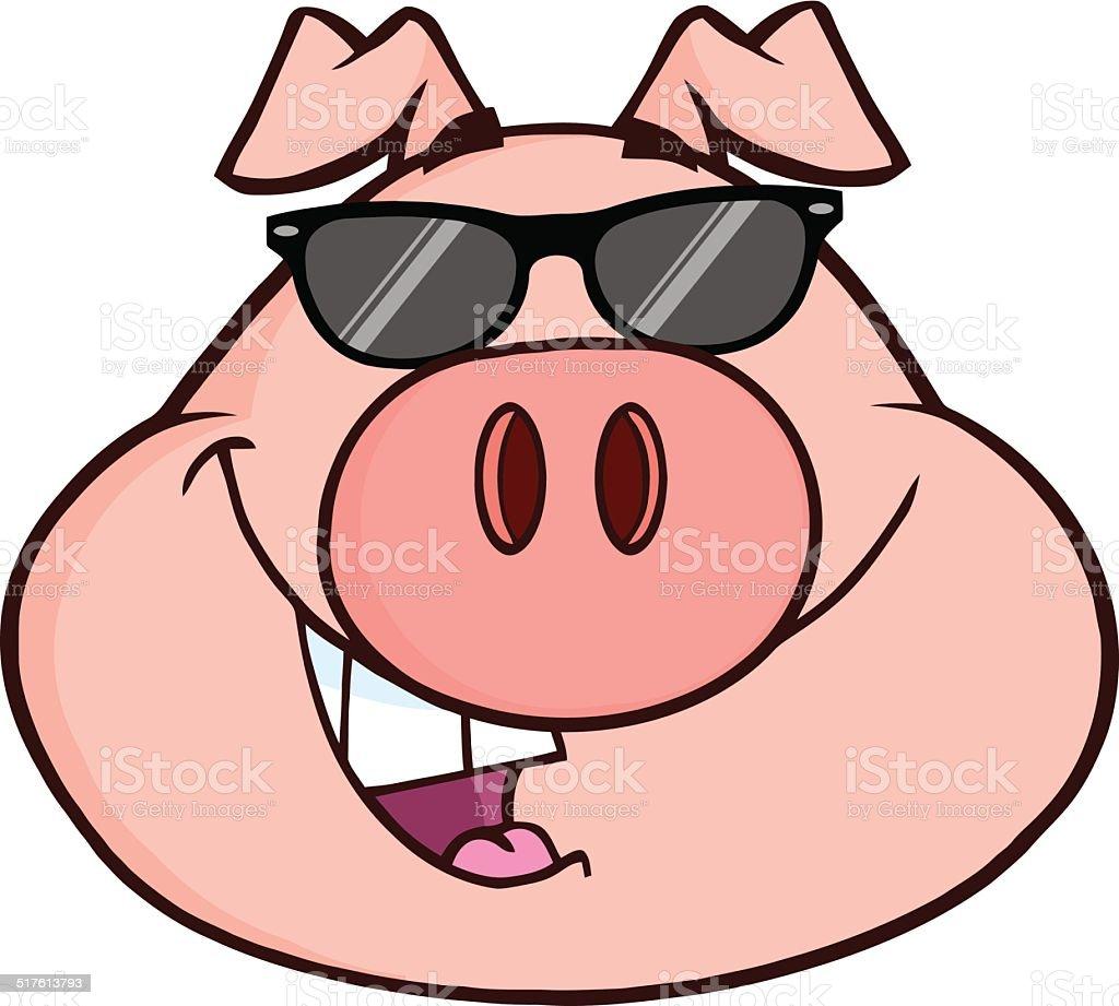royalty free pig sunglasses clip art vector images illustrations rh istockphoto com clip art pig roast clip art piggy